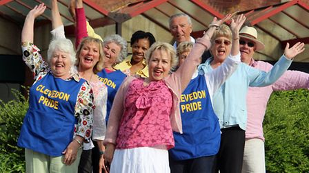 Members of Clevedon Pride in Queens Square