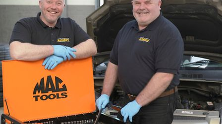 Steve White and Paul Rogers, managers at Autoserv Car & Bike.