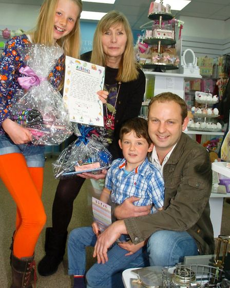 Winscombe The Country House Gift Company shop, stationary competition winners Elaine Coles owner wit
