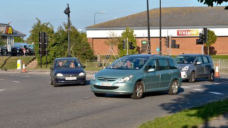 The roundabout at Marchfields Way may get busier if plans to redevelop the site go well.
