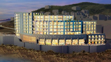 An artist's impression of what the new apartments would look like.