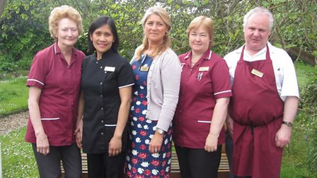 The Old Vicarage Care Home. From (l-r) Glenice Lodge, Agnes Cabiles, Nicole Trinder, Sally Giddings