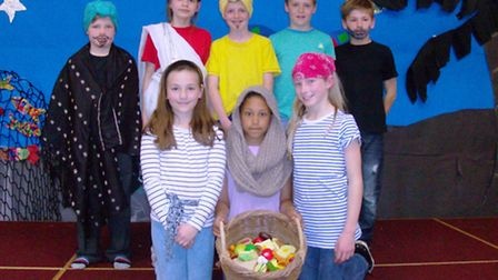 St Peter's Primary School pupils during their Make a Musical task