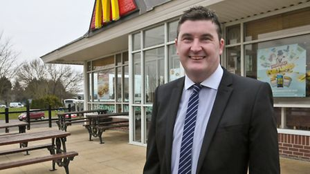 Tim Lamb, pictured outside one of his McDonald's restaurants.