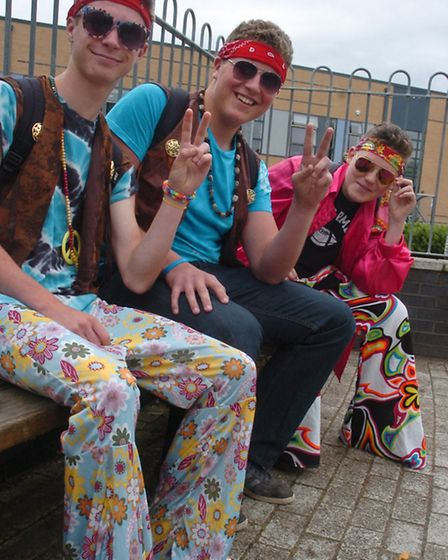 Nailsea School Last day for year 11s in fancy dress