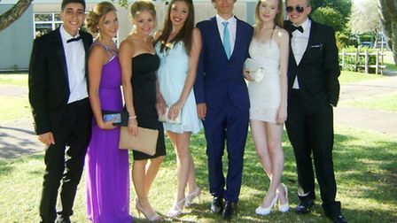 Sixth form pupils at Gordano School ahead of their prom