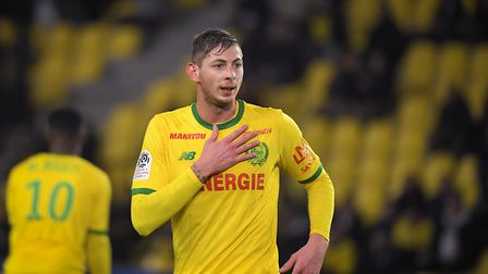 Emiliano Sala playing for Nantes. Photo: Loic Venance