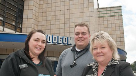 General manager Dawn Fisher (right) with operations supervisor Ash Creed and Carlee Walker.