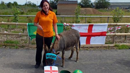 Alistair the donkey is hoping to pick the World Cup winner