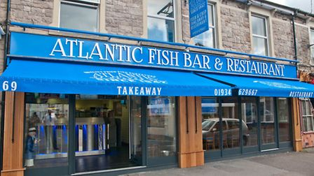Owner Rob Field and Mark Walton in the newly refurbished Atlantic Fish Bar.