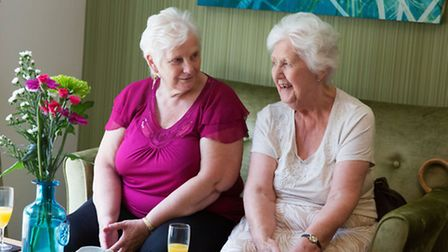 Knightstone residents at the opening of Knightstone Place in Worle. Photo: Geoff Marchant.