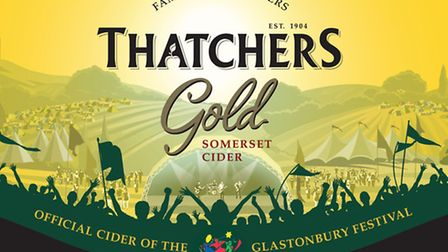 Thatchers have teamed up with Glastonbury festival to provide cider across the site