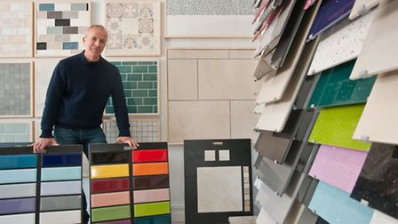 Richard Barclay in his new shop, The Tile Room.