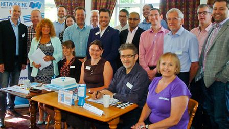 Business people launch new networking scheme, Brewers Fayre Portishead.
