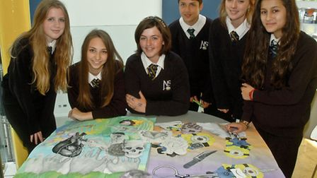 Students from Nailsea School who will be holding an Art Exhibition at the Blue Room, Nailsea.