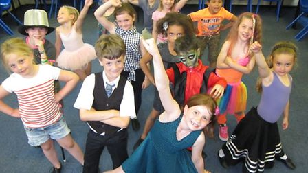 Children from Stagecoach taking part in the footloose fundraising event.