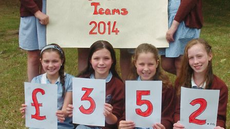 St Francis School Nailsea children who raised money by the young apprentice scheme.