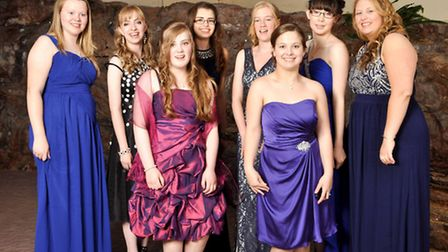 Year 11 pupils dressed in their finery for their leavers' ball at Cadbury House.