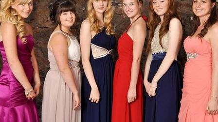 Year 11 pupils from Nailsea School dressed in their finery for the leavers' ball.