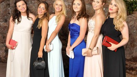 Students from Nailsea show off their glamorous gowns at their year 11 ball.