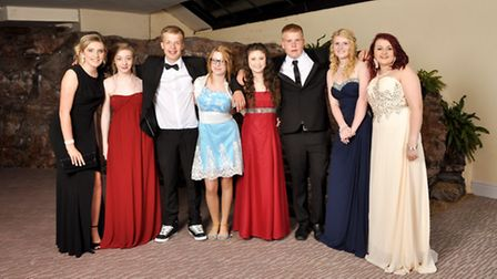 Pupils from Nailsea School show off their glamorous outfits as they prepare to dance the night away.