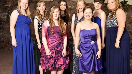 Glamorous ladies from Nailsea School ready to enjoy their prom.