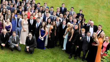 Nailsea School pupils enjoying their prom.