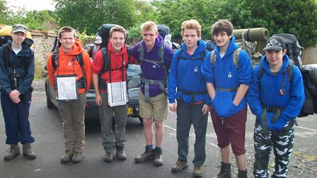 Year 10 pupils during their expedition