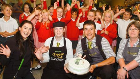 Waitrose ,Nailsea employee partnership day with pupils from Wraxall Primary School.