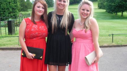 Backwell School sixth former students dressed in their finery ready for their prom.