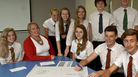 Year 10 business studies pupils at Clevedon School
