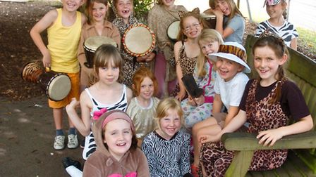 Hannah More School, Nailsea pupils dressed as animals to learn about safari.
