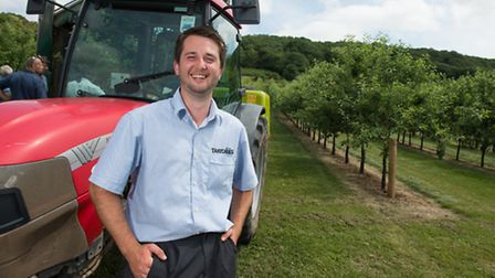 Sam Denning, age 21, apprentice at Thatchers Cider, currently studying at Holme Lacy College in Here