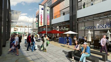An artist's impression of what Dolphin Square will look like when complete.