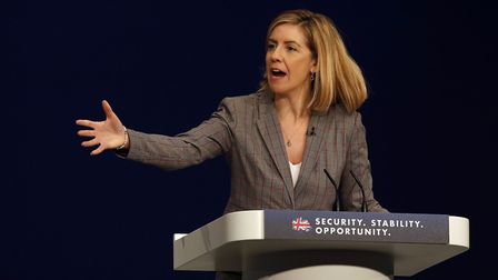 Andrea Jenkyns, MP for Morley and Outwood, addresses Conservative Party conference. Photograph: Pete