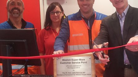 John Penrose officially opened the delivery office this week.