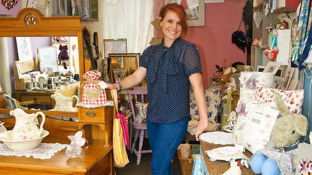 Owner Lisa Reilly with some stock in her new shop.