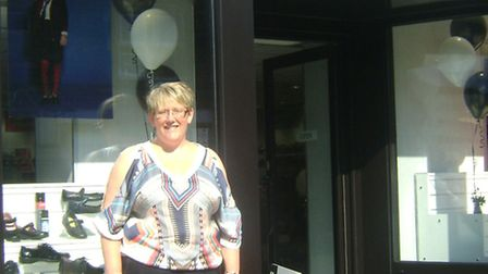 Tanya Marriott outside the new Solelution shop