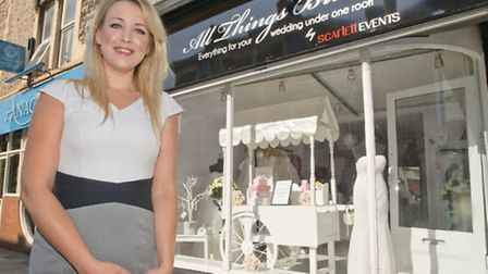 Vicky Durant in her new store, All Things Bridal.