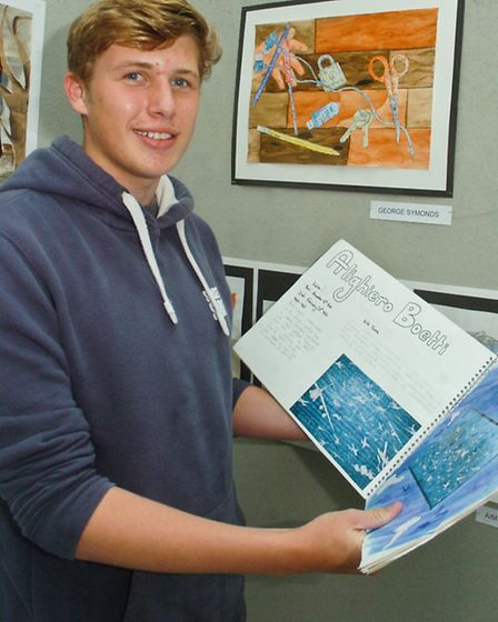 Nailsea School Art and Photography exhibition,George Symonds.