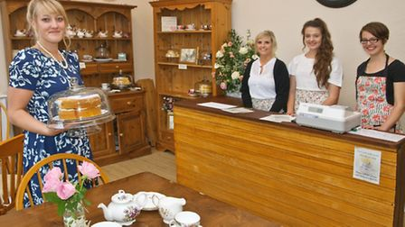 Owner Charlotte Oliver, with her team Sarah Lewington, Katie Price and Camilla Reece-Trapp.