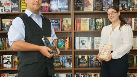 Dr Alistair Sims and his partner Chloe Smirk at their new bookshop.