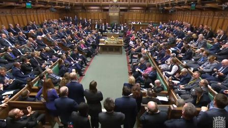 Prime Minister Theresa May speaks in the House of Commons. Photograph: Parliament TV.