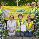 Portishead in Bloom committee with the gold flag awarded by South West in Bloom.