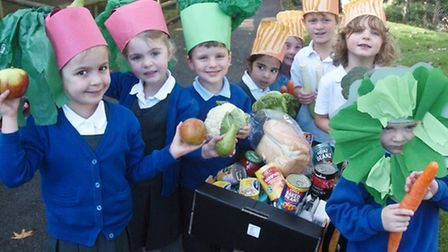 West Leigh Infant School Backwell Harvest service.