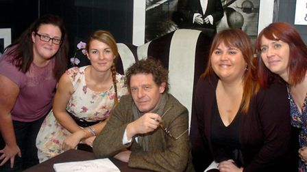 Chef Marco Pierre White visiting newly-refurbished restaurant at Cadbury House Hotel at Congresbury.