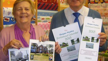 Matt and Rosemary Westley with the Portishead Calendars