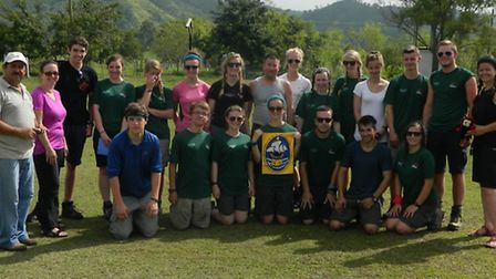 The 18-strong team from Nailsea School who travelled to Honduras for their world challenge.