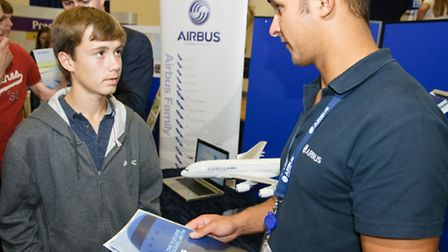 Airbus apprenticeships stand.