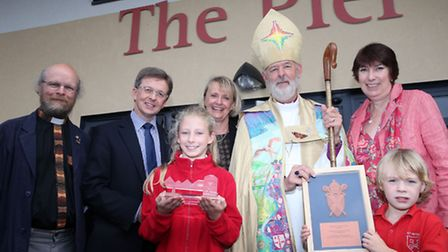 Celebrating the official opening of The Pier building at St Peter's Primary School
